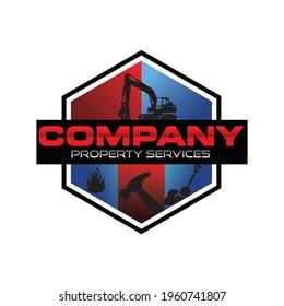 septic service company logo template