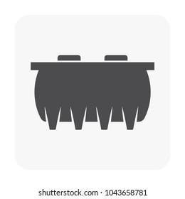 Septic tank icon on white.