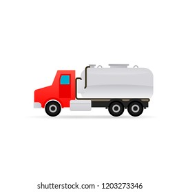 Septic tank truck icon. Clipart image isolated on white background