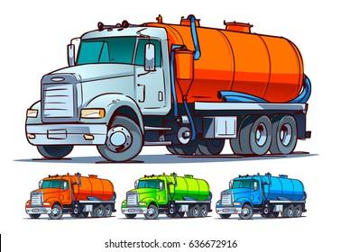 Septic truck cartoon illustration