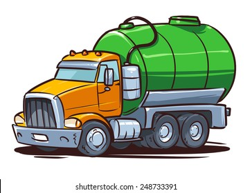 septic truck. sewage