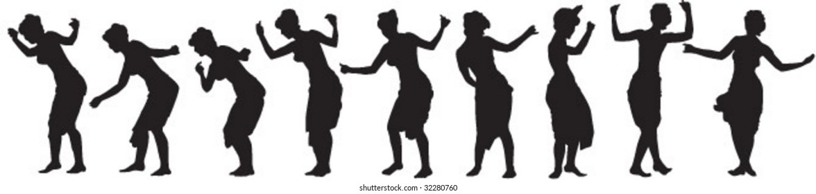 sequence of girl dancing