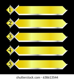 Sequence rank template info graphic chart list