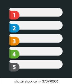 sequence rank template infographic chart list