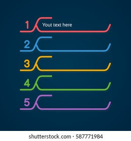 sequence rank template infographic chart with color line style