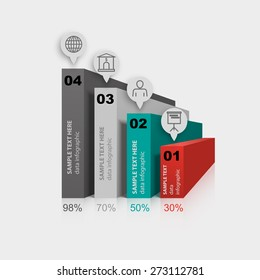sequence walls growth rates of business infographic