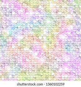 Sequins sparkling background. Rainbow multicolored. Seamless pattern. Vector illustration.