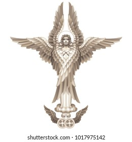 Seraphim - the highest angelic rank, on a white background