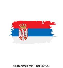 Serbia flag, vector illustration