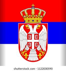 Serbia Flag Vector Illustration