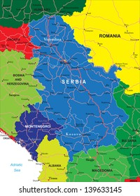 Serbia and Montenegro map