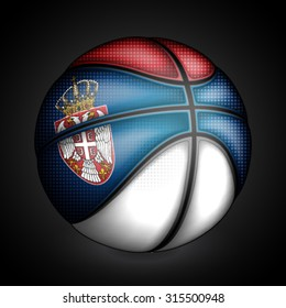 Serbian basket ball, vector