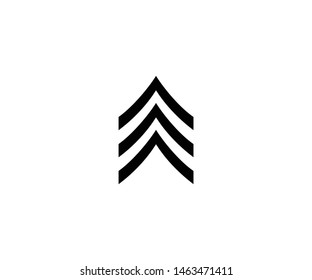 Sergeant sign vector isolated flat illustration. Sergeant sign icon