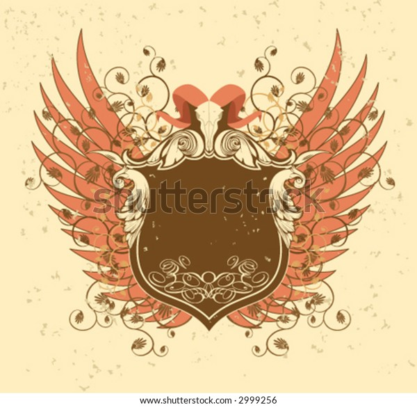 Series heraldic. Horns and Wings.