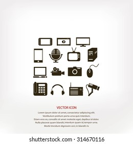 series icon set and mobile devices.