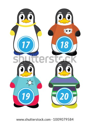 series of penguins numbered