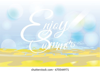 series relax summer backgrounds sunlight sea stock vector royalty
