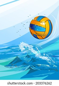 Series of sports vector backgrounds: water polo.