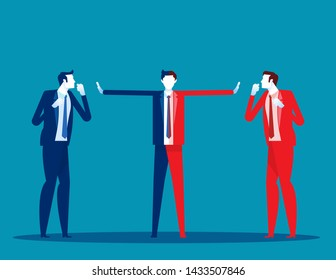 Serious trade tension or trade war. Concept business financ and economy war vector illustration, Between USA and China, Depicts trade deficit,