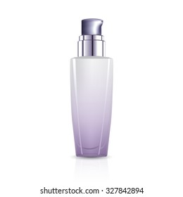 serum bottle on white background