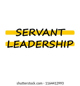 Servant leadership. Business concept