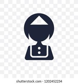 Servant transparent icon. Servant symbol design from Hotel collection. Simple element vector illustration on transparent background.