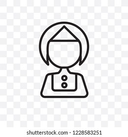 Servant vector linear icon isolated on transparent background, Servant transparency concept can be used for web and mobile