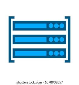 server data racks - computer storage icon