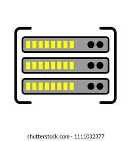 server data racks illustration - computer storage icon