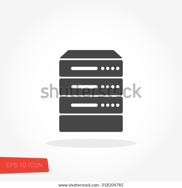 Server Data Web Hosting Isolated Flat Stock Vector (Royalty