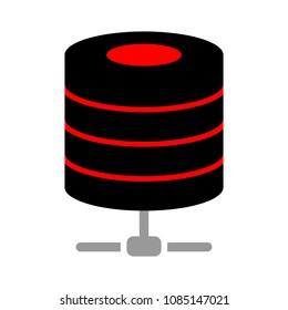 server database  connections, computer backup storage illustration, information symbol