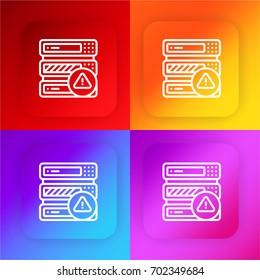 Server four color gradient app icon set