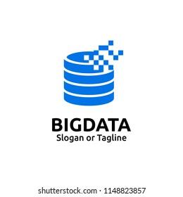 Server logo design template. Big data logo concept. Data Center symbol. Server icon
