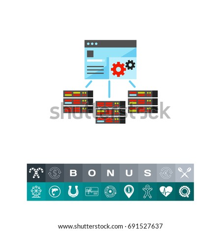 Server Management Control Panel Icon Stock Vector (Royalty