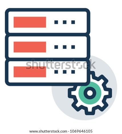 Server Management Control Panel Vector Icon Stock Vector (Royalty
