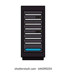 server tower isolated icon