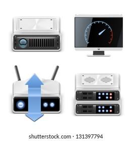 server vector icon set