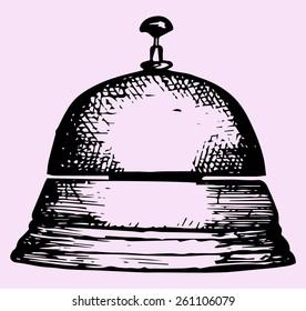 service bell, doodle style, sketch illustration