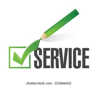 service checkmark illustration design over a white background