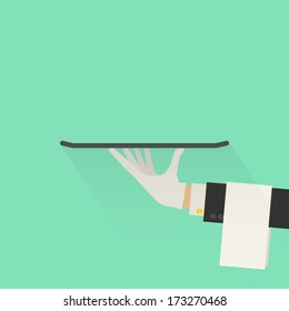 Service Concept. Flat Style. Vector Illustration