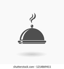 Service Dinner Plate Icon set Illustration silhouette.