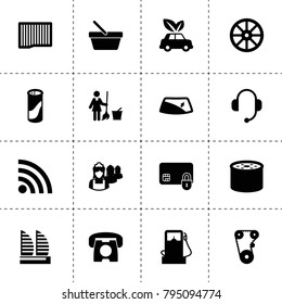 Service icons. vector collection filled service icons. includes symbols such as whell, air filter, oil filter, timing belt, window repair. use for web, mobile and ui design.