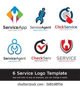 Service Logo Template Design Vector