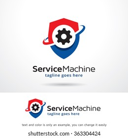 Service Machine Logo Template Design Vector
