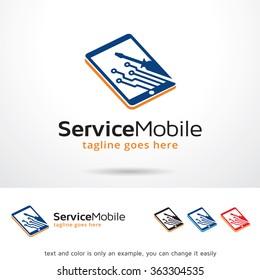 Service Mobile Logo Template Design Vector