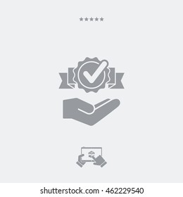 Service offer - Check best option - Minimal icon