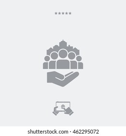 Service offer - Public services for citizens - Minimal icon