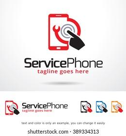 Service Phone Logo Template Design Vector