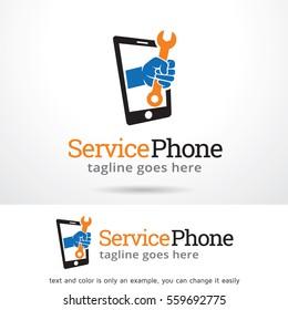 Service Phone Logo Template Design Vector or Icon