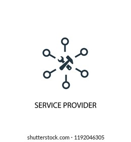 Service provider icon. Simple element illustration. Service provider concept symbol design. Can be used for web and mobile.